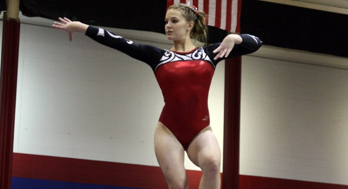 Focused Westrick Makes History for Redhawk Gymnastics